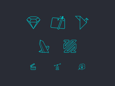 Icons for Blog thought pen vector action origami ffmpeg sketch composer quartz icons