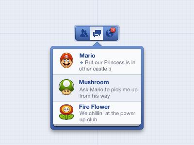 Facebook Notifications ui facebook popover notifications