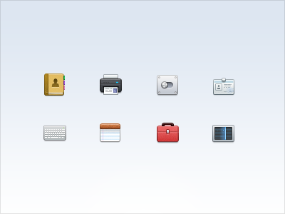 32px Icons 32px 32 icon icons toolbox general card book printer