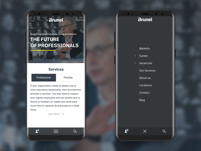 Mobile Navigation device app website design interaction interface menu hamburger navigation nav mobile