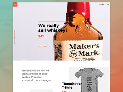 Store Features product t-shirt whiskey carousel store ecommerce