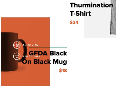 Featured Product Hover shop ecommerce mugs featured product hover
