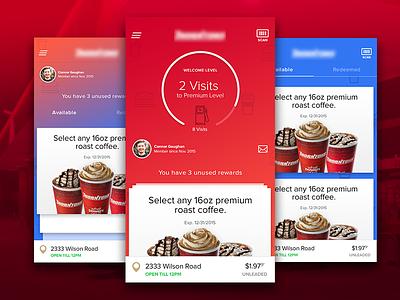 Rewards App coffee ios native mobile app gasoline cards rewards