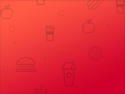 Icon Pattern icons line art gradient pattern drinks apple donut hamburger