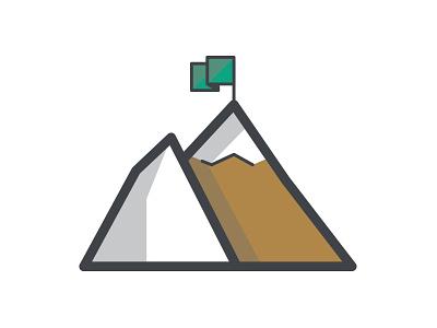 Mountain Icon iconography line-art mountain icon