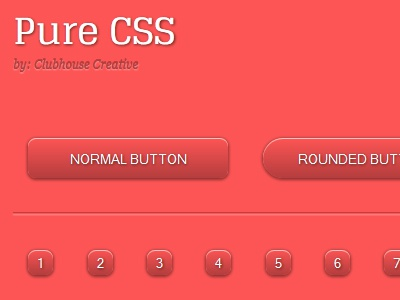 Pure CSS UI Kit ui css3 less semantic grid system pure