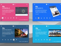 Personal card material design animation