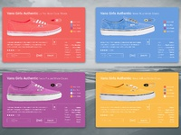 E commerce shoes material design card