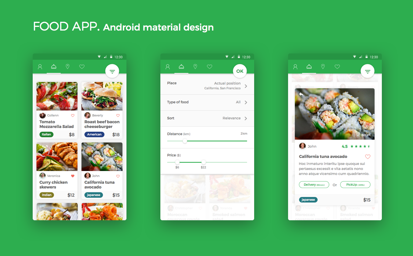 Dribbble food app android material designg by christophe kerebel food app android material design forumfinder Image collections