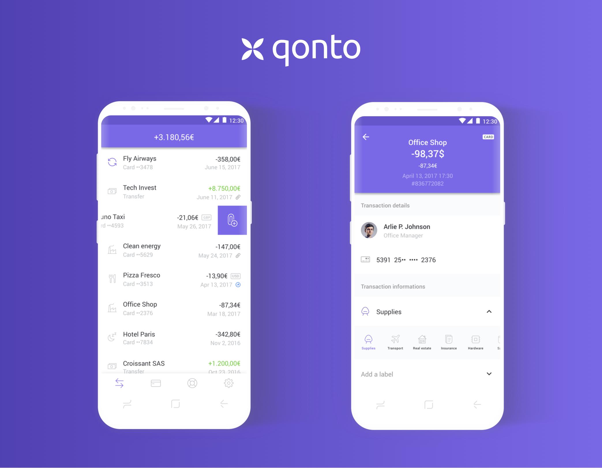 Android qonto app transaction