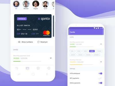 Cards Qonto Android qonto card mobile app finance mastercard banking android
