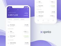 WIP Qonto mobile app