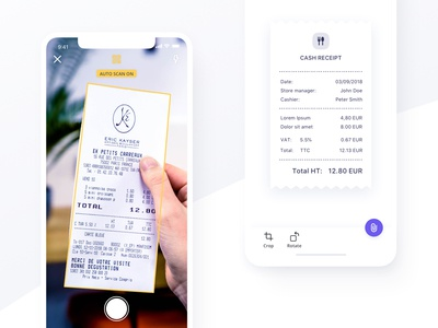 Scan a receipt - Qonto sdk bank photo edit camera vat scan invoice receipt accountant api scan bot app ios qonto