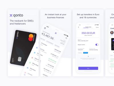 Qonto App Store Screenshots screenshot store qonto design bank ios app ui mobile