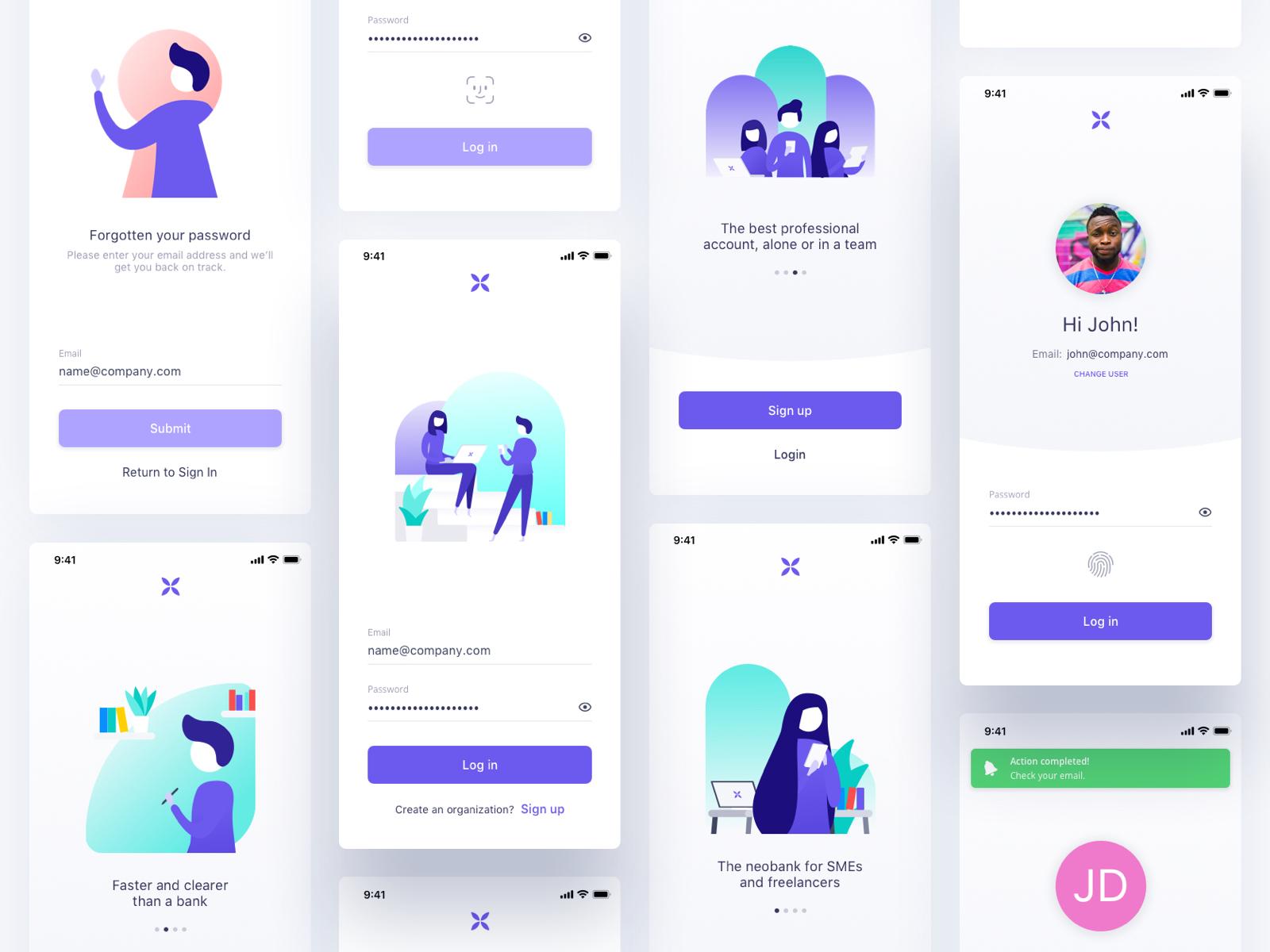 Qonto login mobile ios christophe kerebel product designer