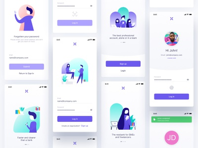 Coming soon - Qonto Login V2 branding ui design layout textfield input password illustration ios mobile app banking account bank qonto register sign up sign in login