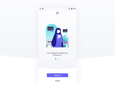 Login Android - Qonto textfield password input lottie mobile android app account signup bank qonto login interaction animation illustration brand