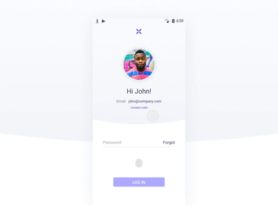 Reconnect Android - Qonto principle ui after affects textfield password input lottie mobile android app account sign up bank qonto login interaction animation illustration brand