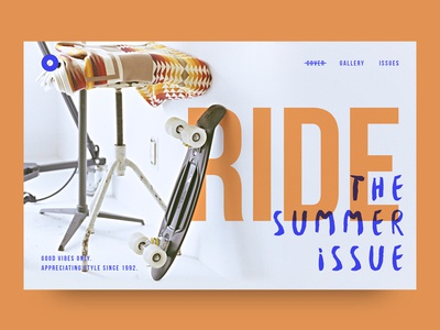 Ride Cover fresh minimal editorial web header layout typography pennyboard penny cover skateboard skate
