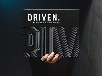 DRIVEN. preview magazine layout editorial typography cover kiska simkom automotive car paper print book