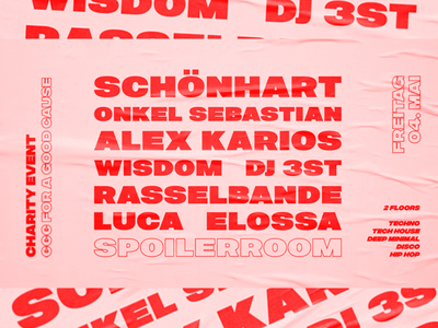 Spoilerroom #1 graphic design branding electronic music poster editorial layout typography type gig event