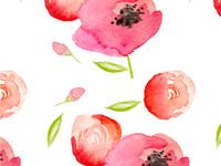 Poppy + Roses Pattern
