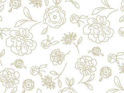 Floral Pattern - Line Art pattern floral print flowers repeating illustration