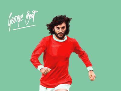George Best poster soccer illustration george best football gods football soccer