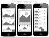 Gallery app wireframe
