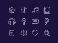 Lisbon Metro Radio App Icons