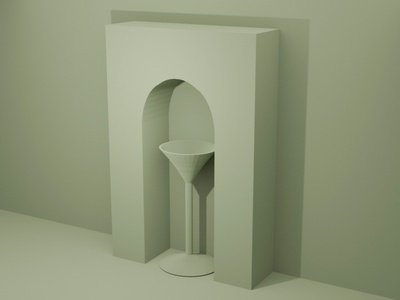 Arch and Stand design illustration lowpoly blender 3dmodel 3ddesign 3d