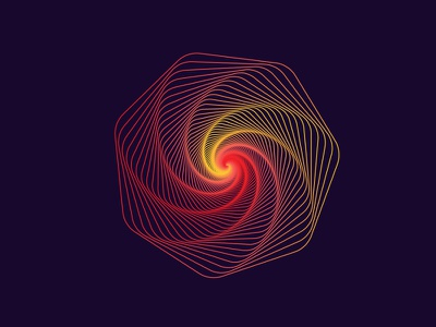 the lines geometry spiral gradient sticker flat vector web design illustration lines