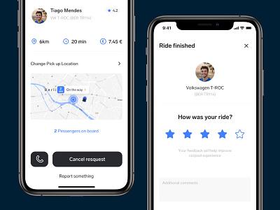 Carpool App – Rate the ride stars drive rate carpool car ux ui