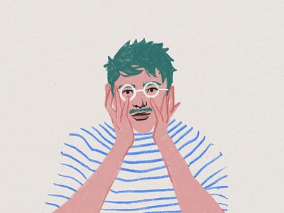 Self-Portrait procreate design illustration