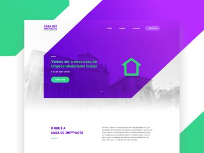 Casa do Impacto   Landing page