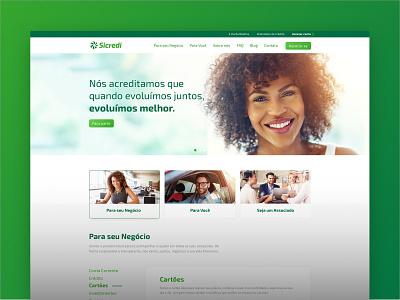 Sicredi Norte SC ux-ui green santa catarin brazil ui desktop site