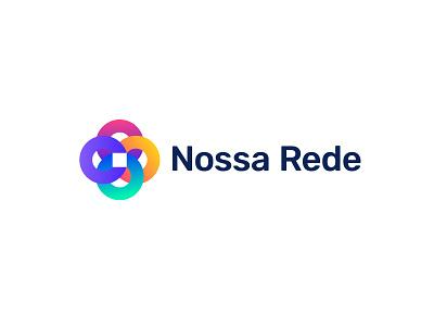 Nossa Rede  -  Workflow Platform mark design gradient brand logo branding