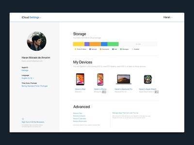 iCloud — Web Settings redesign
