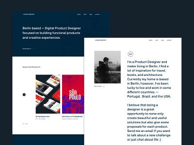 Personal Branding   Website digital design designer personalbranding personal website web brand branding ui ux
