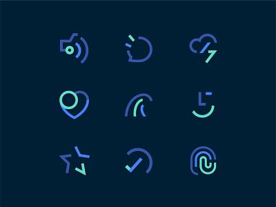 Icon Set flat app animation design icon sketch brand logo ui icons set iconset icons