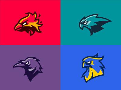 SDC:LX Birds Mascots america nfl american football icon vector logo brand