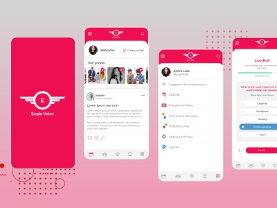 Eagle voice App design uiux app design