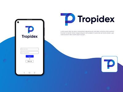 Tropidex- Logo identity TP letter logo mark visual ui clean minimal flat design identity branding icons typography tp logo t modern logo p modern logo designer logo creative modern logo app logo app logos