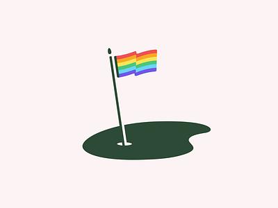 Golf Pride green pride flag sports golf