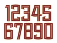 Seminoles Number Font