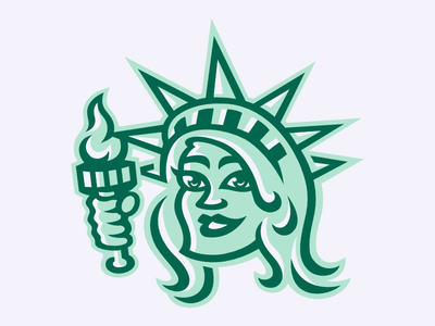 """""""Lady"""" Liberty new york statue of liberty sports clink room"""