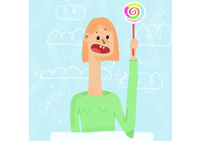 candy! artist art illustrations photoshop illustration art digitalart illustration