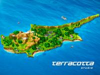 Cyprus island map illustration