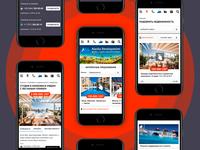 Real estate agency mobile website