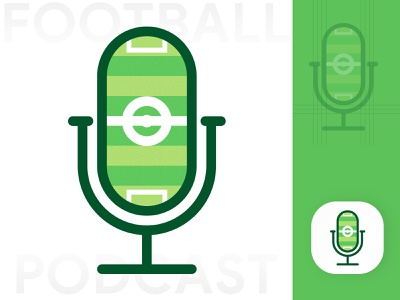 Football Podcast Logo design branding logo logo design brand illustration logo identity minimal minimal logo logotype logodesign visul design visual identity website wordmark logos podcast streaming stream